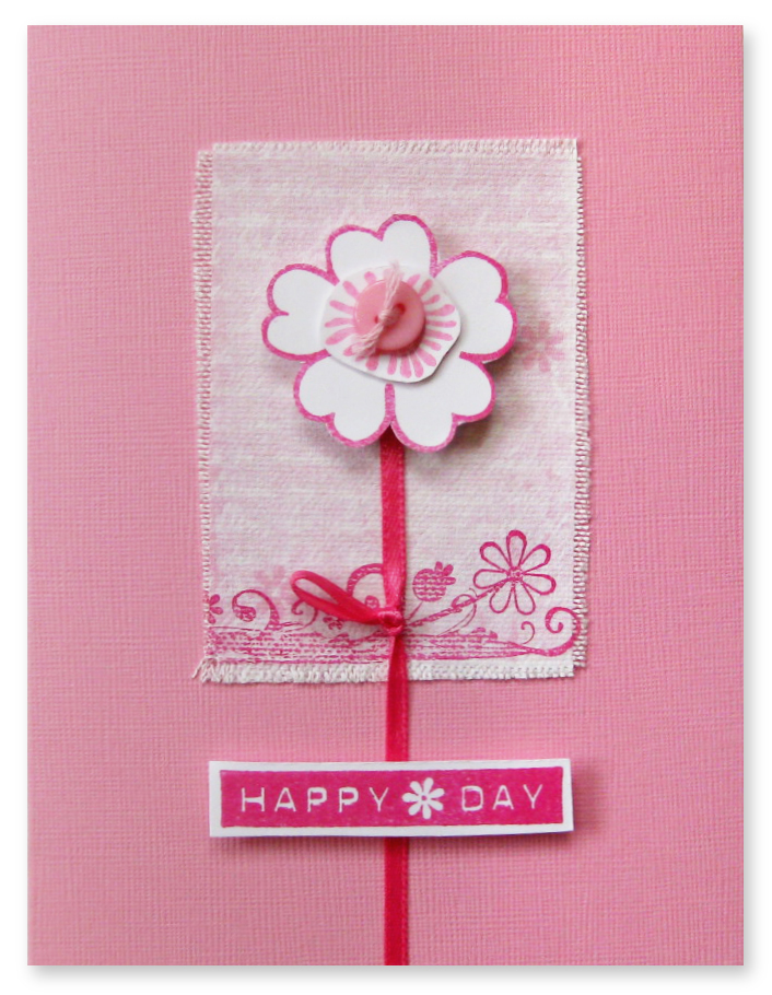 Happy Day card-pink
